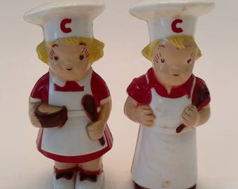 Vintage Campbell's Soup Salt and Pepper Shakers / S&P Shakers / Campbell's Soup Shakers / Salt and Pepper Shaker Set / Vintage Kitchen