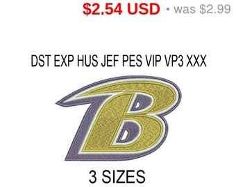 TODAY SALE 15% Baltimore Ravens logo embroidery design / embroidery designs / INSTANT download machine embroidery pattern