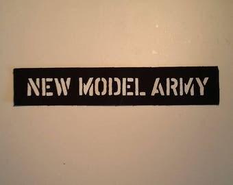 New model army logo LONG patch goth post punk