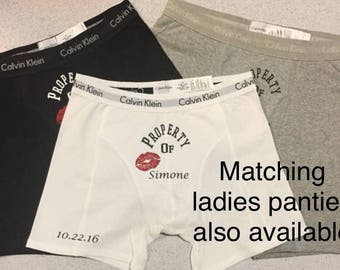 PERSONALIZED Boxers, Boyfriend Gift, Valentines Gift for Him, Couples Valentine Gift, Mens birthday Gift, Anniversary Gift, Husband Gift