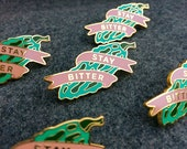 Bitter Melon Enamel Pin, Bitter Melon Lapel Pin Brooch