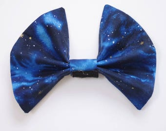 Blue Night Sky Interchangeable Bow for 3D Printed Mouse Ears