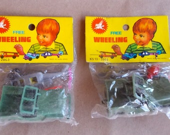 Lot of 2 Packages Vintage Army Jeep & Helicopter Combo MINT Org Pkgs Dimestore