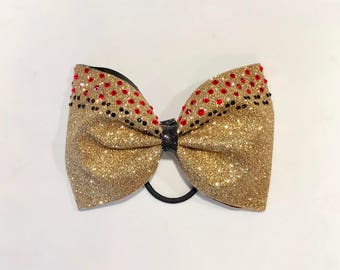 "4"" Glitter Tailless Cheer Bow"