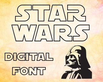 star wars schrift etsy. Black Bedroom Furniture Sets. Home Design Ideas