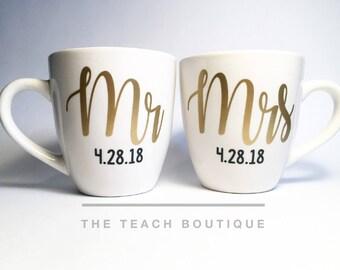 Personalized Mr. and Mrs. Mugs (Set)