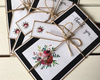 Thank you cards/ Thank you notes / Party thank you/ Birthday party thank you/ floral thank you cards
