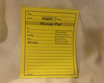 15 sheets of phone message pad