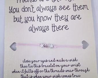 Friends are like stars Wish Bracelet