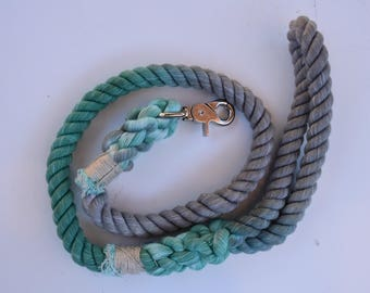 Leash of the Month - timeless teal and grey leash