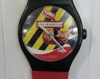 Huge Vintage Coke Max Headroom Wall Clock from the late 1980's
