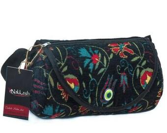 ck Flower pattern  Chenille Fabric Bag Adjustable Bag Boho Bag
