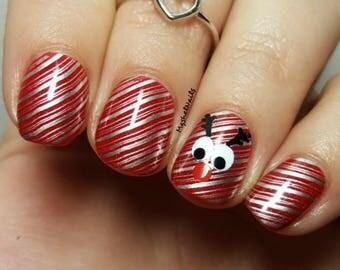 Reindeer Face Nail Decal