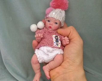 "SILICONE BABY DOLL ""little Polina "" 6 in by Victoria Vihareva Pechenkina"