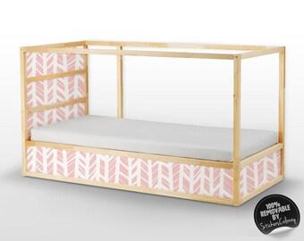Decals for Kura Bed, Ikea, Herringbone pattern Sticker Set, PACK OF 5, Self adhesive, Children, Furniture Decal, Peel&stick, Decor #14K