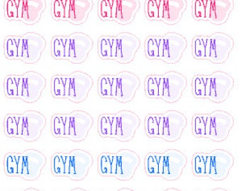 Gym // Diary // Planner // Stickers