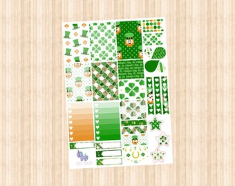 NEW St PATRICKS DAY Weekly Kit // Happy Planner // Erin Condren // Personal
