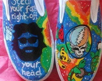 Grateful Dead hand painted shoes