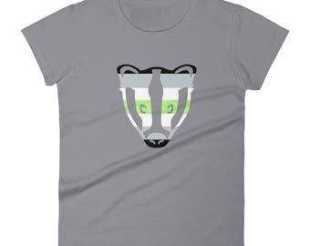 Agender Pride Badger Women's short sleeve t-shirt  lgbt lgbtqipa lgbtq mogai pride flag