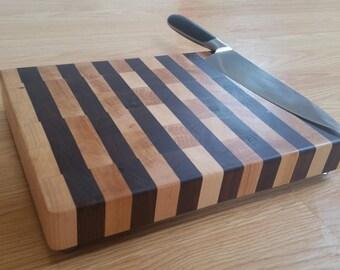 Walnut and Hard Maple End-Grain Cutting Board #8