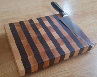 Walnut and Hard Maple End-Grain Cutting Board #11