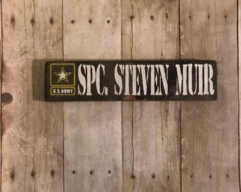 personalized military name sign