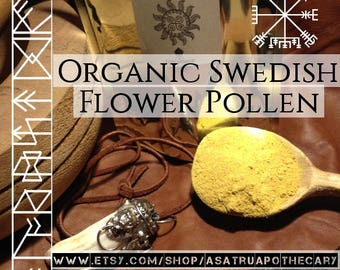 Fresh Wildharvested Organic Swedish Flower Pollen 5x extract 100 grams //men's health // tality herb // men's supplement // Icelandic