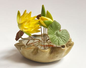 Handcrafted Yellow Lotus