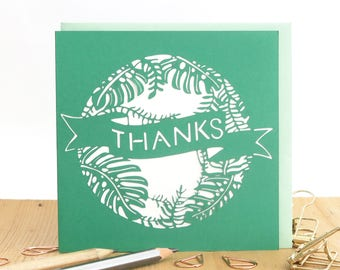 Thank you card, Thank you note, Wedding thank you card, Gratitude card, Thanks a lot card, Thank you card pack, Thank you card set
