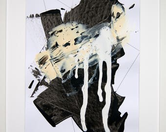 Original abstract illustration, no. 0620, mixed media on paper, 35x50cm. 2017