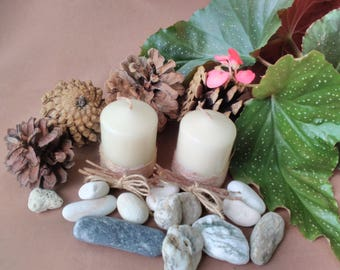 Aromatherapy candle set Handmade candles for your home decor Pillar candles Rustic Wedding candles