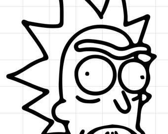Rick face car decal