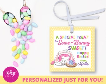 Customized Favor Tag for Kids   Personalized Easter Favor Tags   Easter Tags Digital   Easter Tag for Class   Easter Tags Download