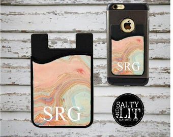 Marble phone caddy etsy marble cell phone wallet marble phone caddy card caddy phone wallet marble colourmoves Image collections