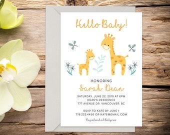 Baby shower invite, baby shower, baby boy/girl invitation, shower invitation, printable invitation, digital invitation, invitation template
