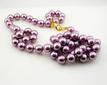 Joan Rivers  Glass Bead Necklace   28""