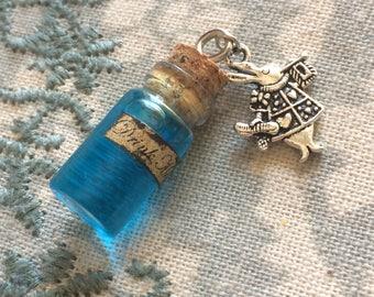 Alice in Wonderland Inspired Drink Me Bottle Charm