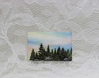 Trees and Sky Miniature Art