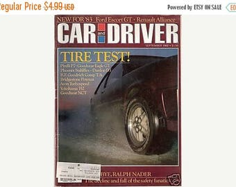 Summer Sale Car and Driver September 1982 Magazine
