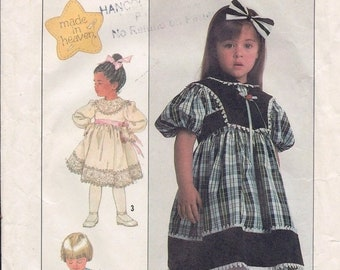 Simplicity 8405 Child's Dress and Lined Vest