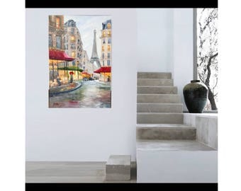 "Oil painting on canvad  ""Paris"" 24x36"