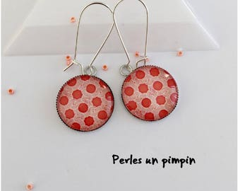 Coral color earrings