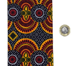 African print fabric 2018 Pocket size Diary Planner Calendar Agenda week to view Vibrant Unique Original Hardback Ankara Dovetailed London