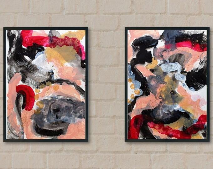 Zitarrosa 35x25cm each Original Abstract Painting