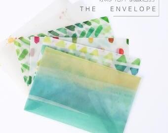Translucent Watercolour Envelope   Vellum Envelops   Letter Envelopes