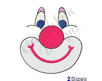 Doll Clown Face - Machine Embroidery Design