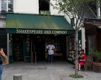Shakespeare and company, Paris photography, wall print, iconic shops,