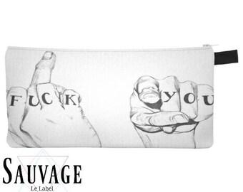 Fck U • Pencils - Makeup - Phone whatever you want little bag • handmade in montreal