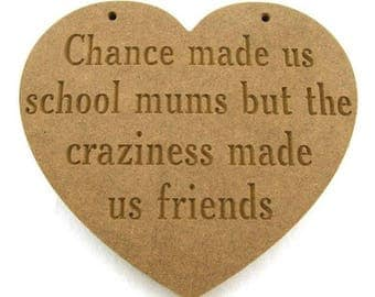 Friends plaque, Chance made us, Friend gift, friend present, wooden plaque, gift idea,