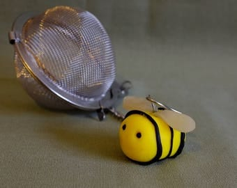 Bee Mesh ball, tea ball, bee tea ball, meshball, tea infuser, tea maker, Bee tea infuser